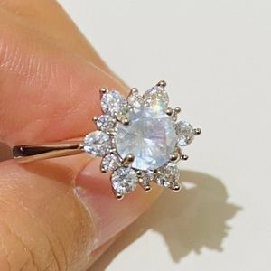 Lovely Snowflake Silver Ring